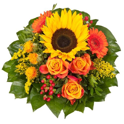 Blumenstrauss mit Sonnenblume von Dominik GmbH Co. Pflanzenvertriebs-KG